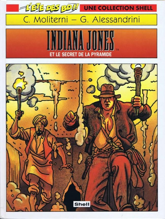 Couverture de Indiana jones et le secret de la pyramide
