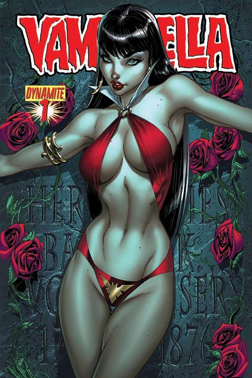 Couverture de Vampirella (2010) -1- Crown of worms part 1 : red right hand