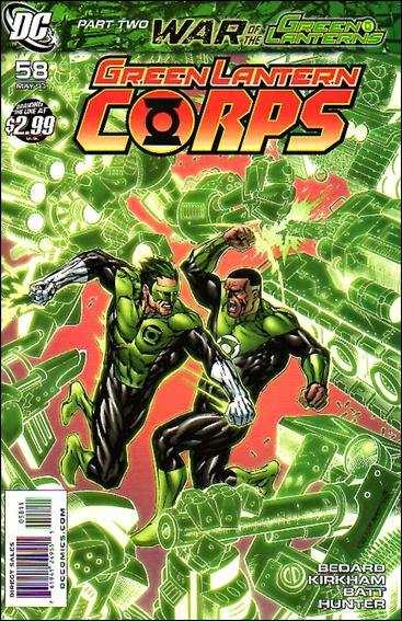 Couverture de Green Lantern Corps (2006) -58- War of the green lanterns part 2