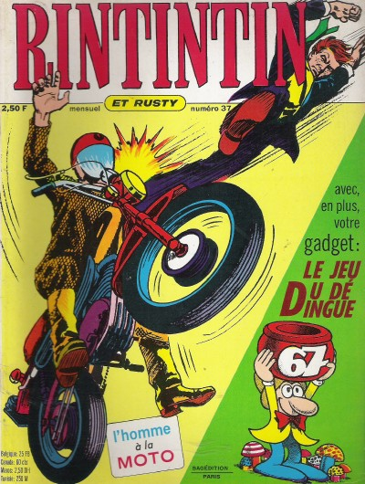 Couverture de Rin Tin Tin & Rusty (2e série) -37- Les pirates du rail