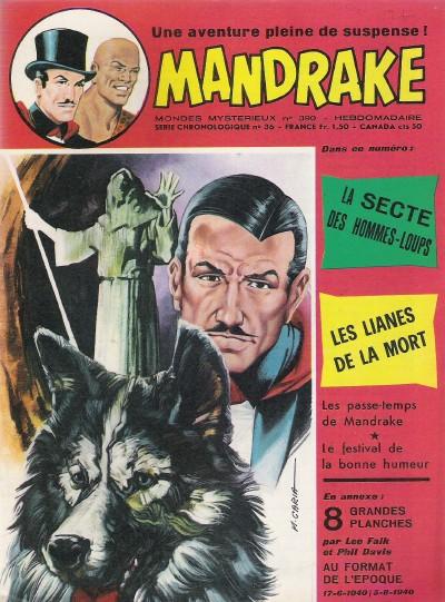 Couverture de Mandrake (1e Série - Remparts) (Mondes Mystérieux - 1) -390- La secte des hommes-loups