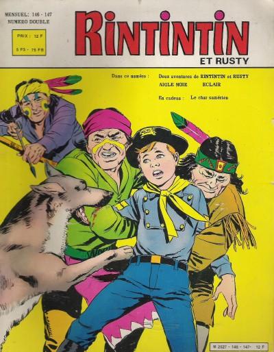 Couverture de Rin Tin Tin & Rusty (2e série) -146/147- La Posada tragique