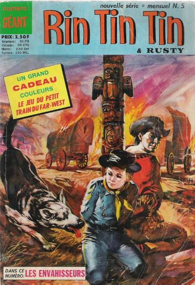 Couverture de Rin Tin Tin & Rusty (2e série) -5- L'homme sans patrie
