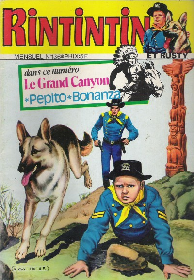 Couverture de Rin Tin Tin & Rusty (2e série) -136- Le Grand Canyon