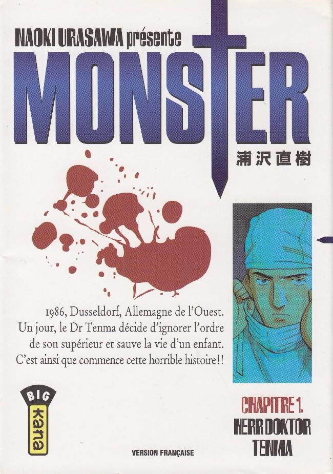 Couverture de Monster (Urasawa) -1- Herr Doktor Tenma