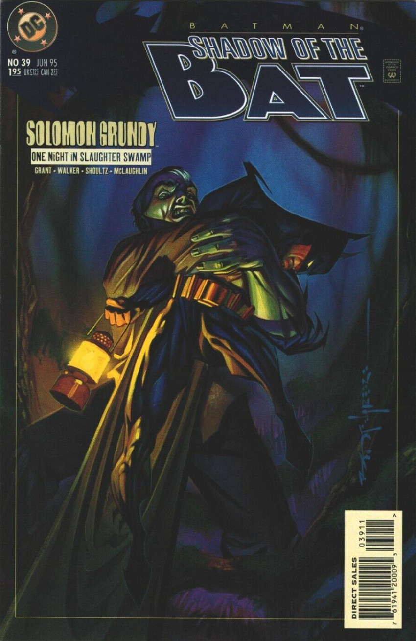 Couverture de Batman: Shadow of the Bat (1992) -39- Solomon Grundy: One Night in Slaughter Swamp