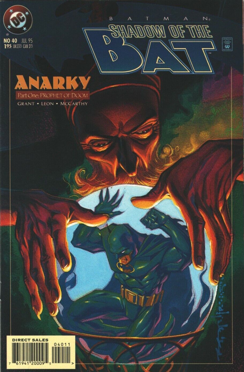Couverture de Batman: Shadow of the Bat (1992) -40- Anarky, Part One: Prophet of Doom