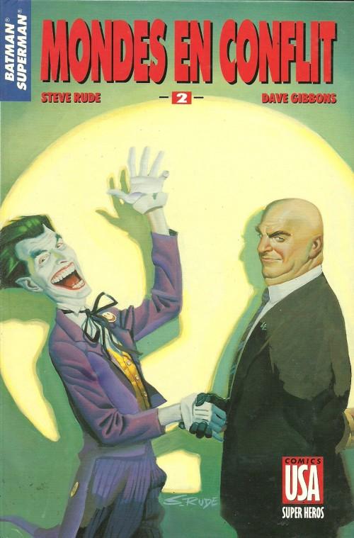 Couverture de Super Héros (Collection Comics USA) -46- Batman/Superman 2/3 : Mondes en conflit