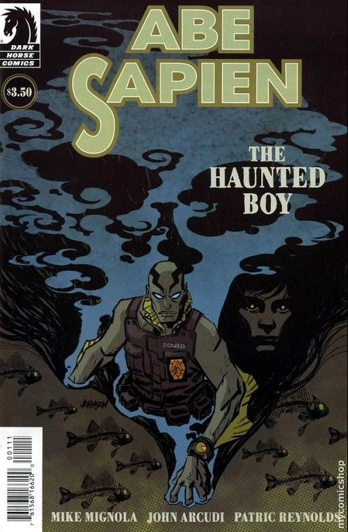 Couverture de Abe Sapien (2008) -6- The Haunted Boy (1/1)