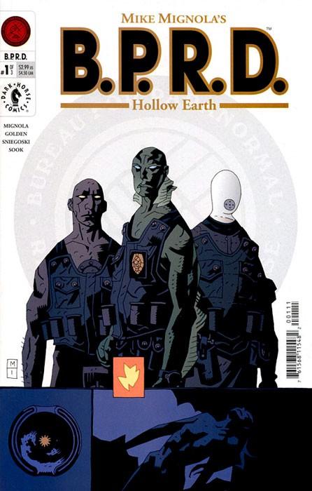 Couverture de B.P.R.D. (2003) -1- Hollow Earth
