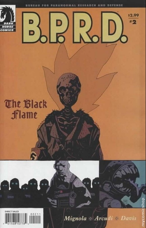 Couverture de B.P.R.D. (2003) -19- The black flame