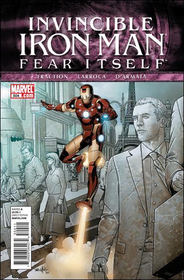 Couverture de Invincible Iron Man (2008) -504- Fear itself part 1 : city of light, city of stone