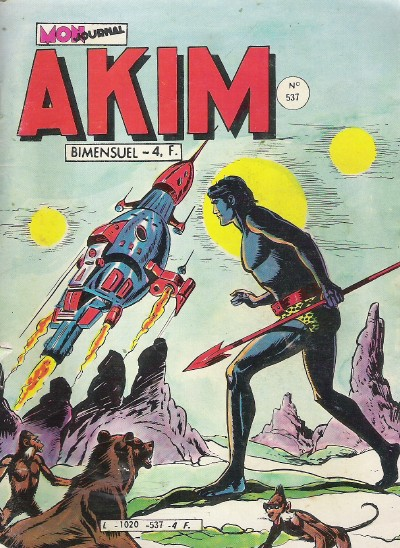 Couverture de Akim (1re série) -537- La savane tremblante