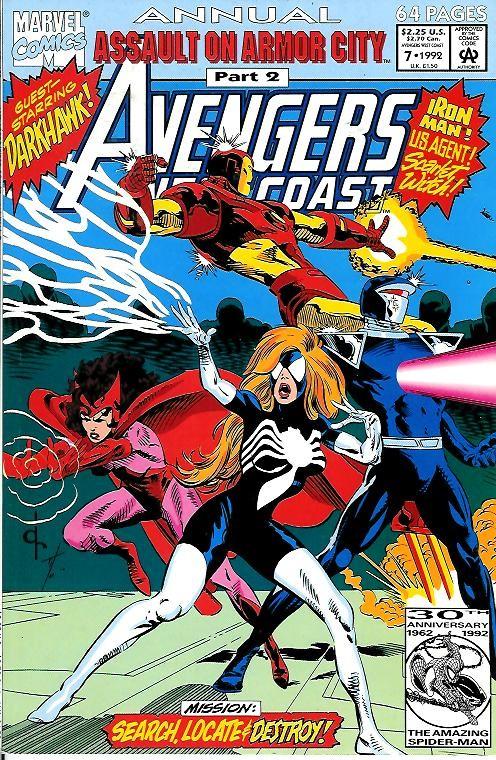Couverture de Avengers West Coast (1989) -AN07- Assault on Armor city part 2