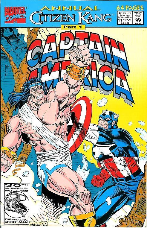 Couverture de Captain America (Marvel comics - 1968) -AN11- Citizen Kang part 1