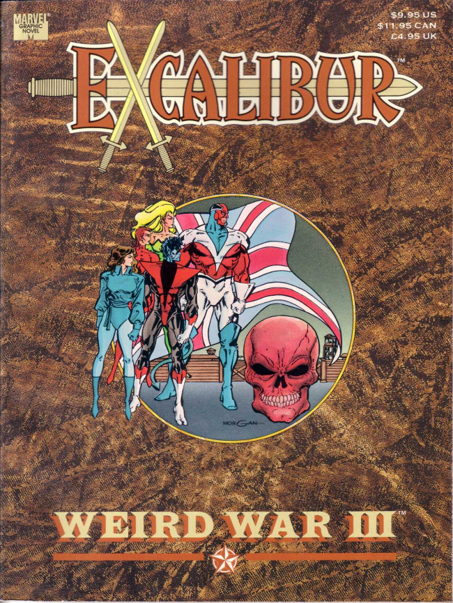 Couverture de Marvel Graphic Novel (Marvel comics - 1982) -66- Excalibur: Weird War III