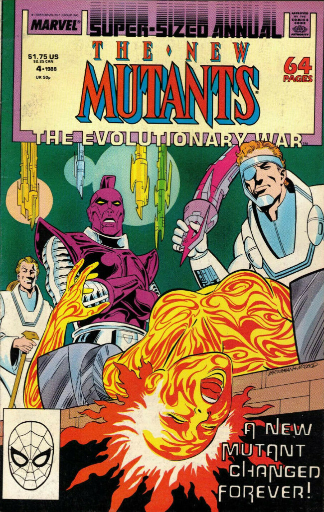 Couverture de New Mutants (The) (1983) -AN04- The evolutionary war