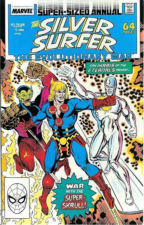 Couverture de Silver Surfer Vol.3 (Marvel comics - 1987) -AN01- The evolutionary war