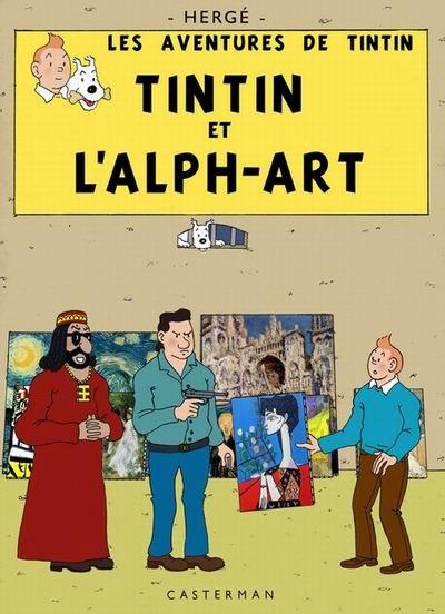 Couverture de Tintin - Pastiches, parodies & pirates -18- Tintin et l'Alph-Art