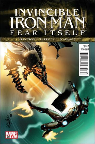 Couverture de Invincible Iron Man (2008) -505- Fear itself part 2 : crakced actor