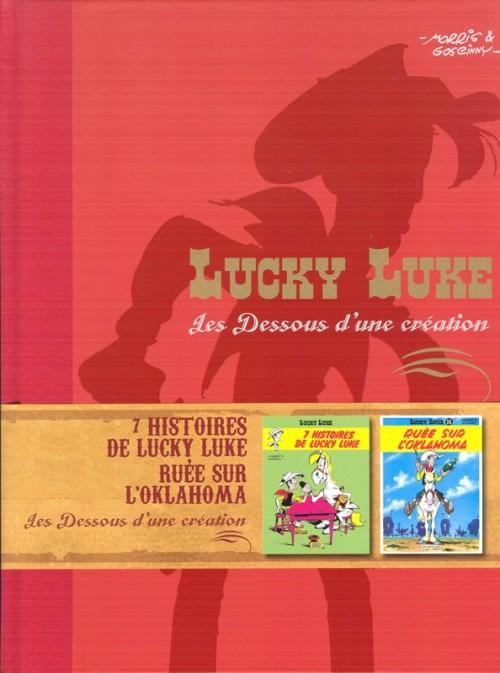 Couverture de Lucky Luke - Les Dessous d'une création (Atlas) -23- 7 Histoires de Lucky Luke / Ruée sur l'Oklahoma