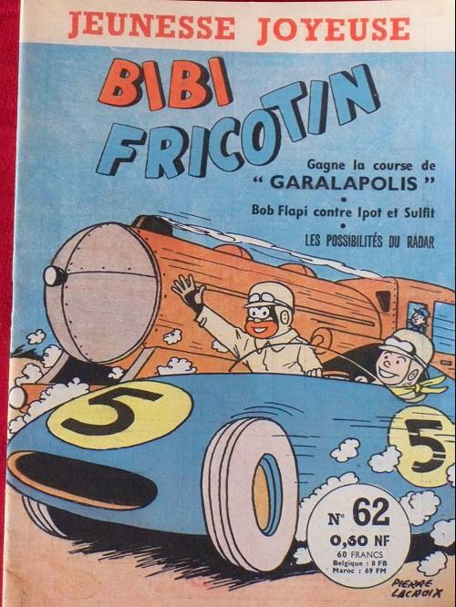 Couverture de Bibi Fricotin (3e Série - Jeunesse Joyeuse) -62- Bibi Fricotin gagne sa course de