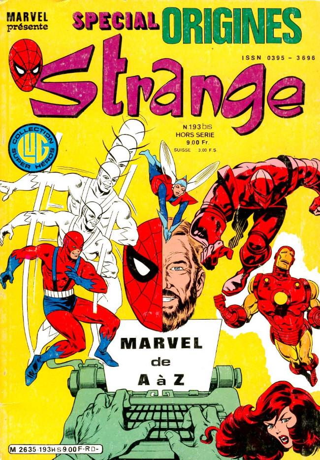 Couverture de Strange (Spécial Origines) -193bis- Strange 193 bis
