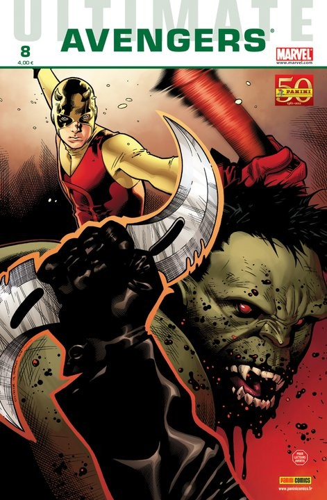 Couverture de Ultimate Avengers -8- Blade contre les Vengeurs (2)