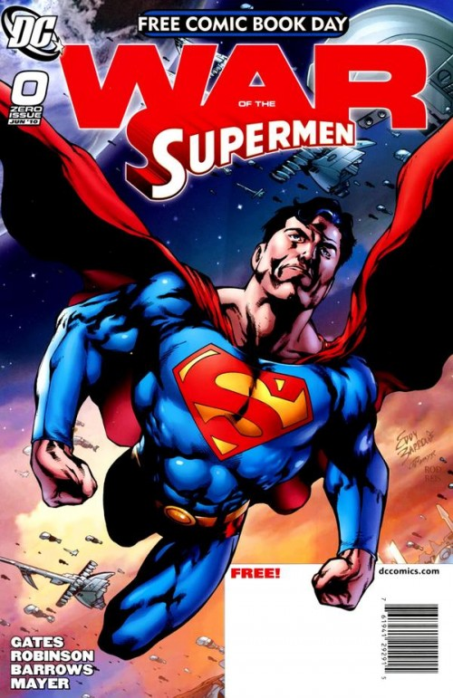Couverture de Superman: New Krypton (2009) -FCBD- War of the Supermen #0 - Free Comic Book Day 2010