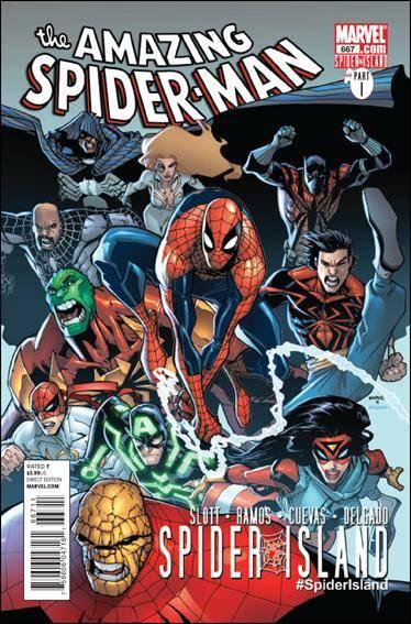 Couverture de Amazing Spider-Man (The) Vol.2 (Marvel comics - 1999) -667- Spider island part 1 : the amazing Spider-Manhattan