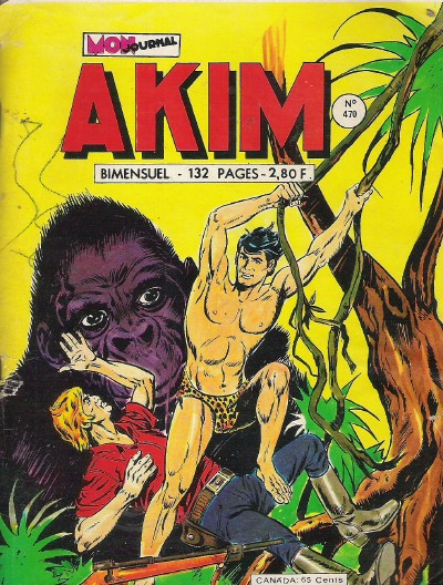 Couverture de Akim (1re série) -470- Le seigneur de la jungle