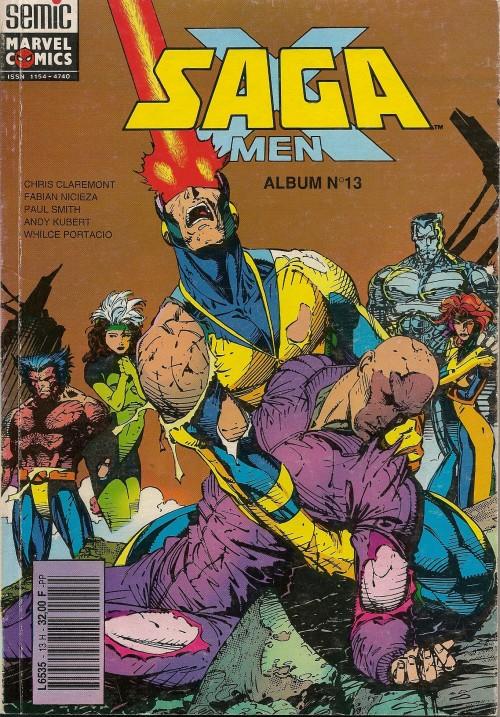 Couverture de X-Men/X-Men Saga (Semic) -Rec13- Album N°13 (du n°9 au n°10)