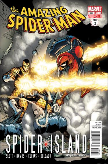Couverture de Amazing Spider-Man (The) Vol.2 (Marvel comics - 1999) -669- Spider island part 3 : arachnotopia