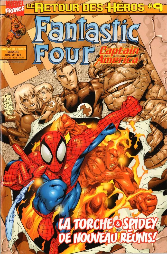 Couverture de Fantastic Four (Retour des héros) -9- La torche & spidey de nouveau réunis !