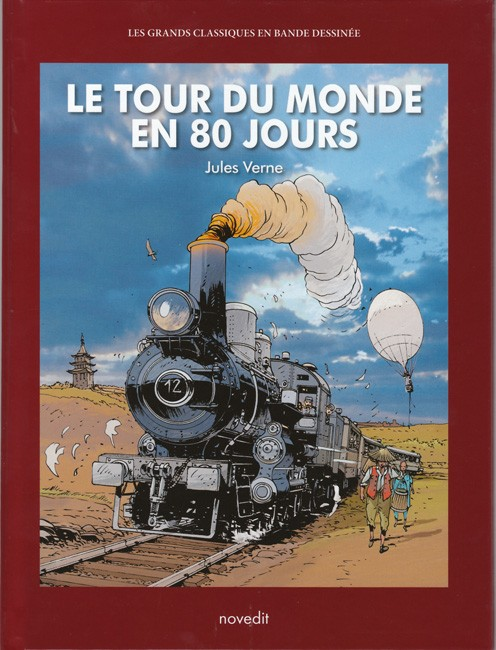 Couverture de Les grands Classiques en bande dessinée - Le Tour du monde en 80 jours