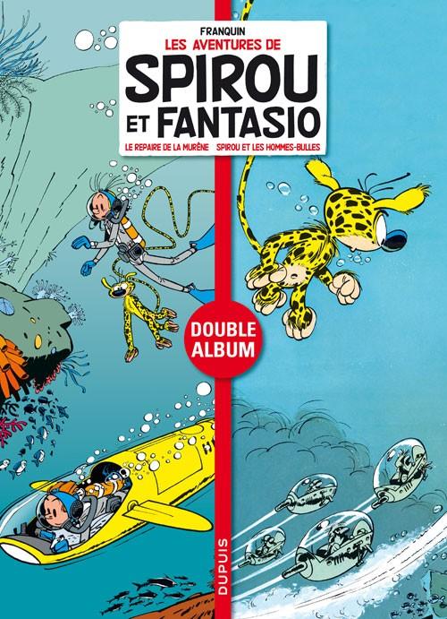 Couverture de Spirou et Fantasio - Diptyques -4- Le repaire de la murène - Spirou et les hommes-bulles