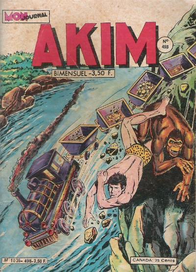Couverture de Akim (1re série) -498- Le trésor du Maharaja