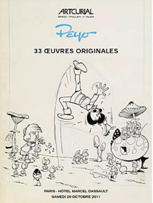 Couverture de (Catalogues) Ventes aux enchères - Artcurial - Artcurial - Peyo 33 œuvres originales - samedi 29 octobre 2011 - Paris hôtel Dassault