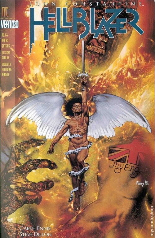 Couverture de Hellblazer (DC comics - 1988) -64- Fear and Loathing Part One: For God and Country