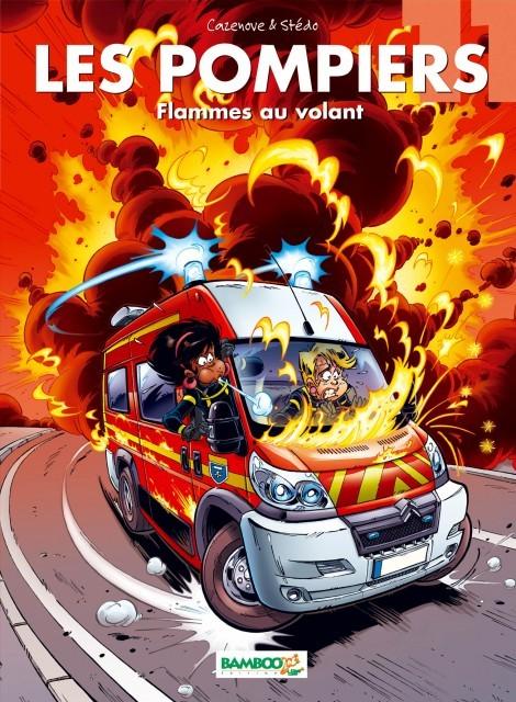 Couverture de Les pompiers -11- Flammes au volant