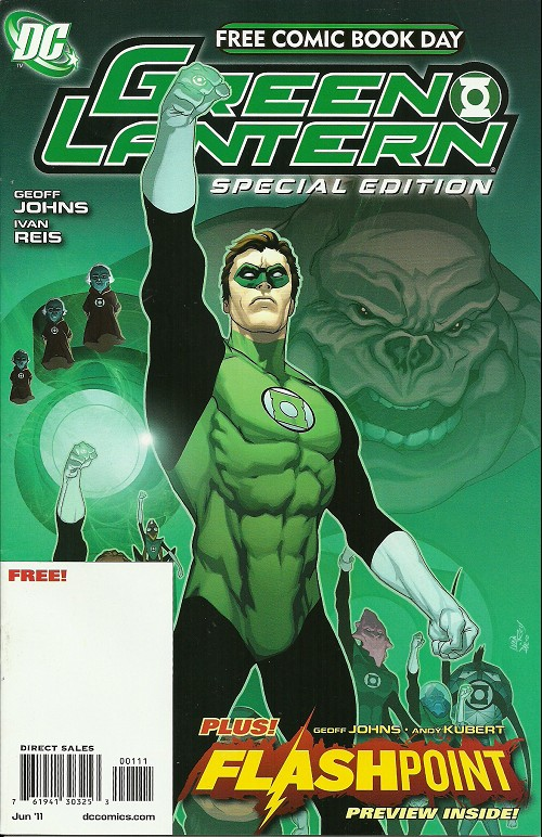 Couverture de Free Comic Book Day 2011 - Green Lantern Special Edition - Plus! Flashpoint preview inside!
