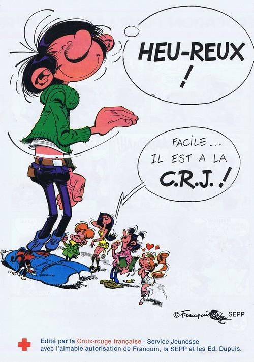 Couverture de Gaston (Hors-série) -Pub- Heu-reux! Facile... il est à la C.R.J. !