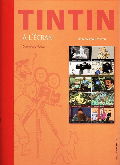Couverture de Tintin - Divers -53TL- Tintin à l'écran - 10 timbres pour le 7e art