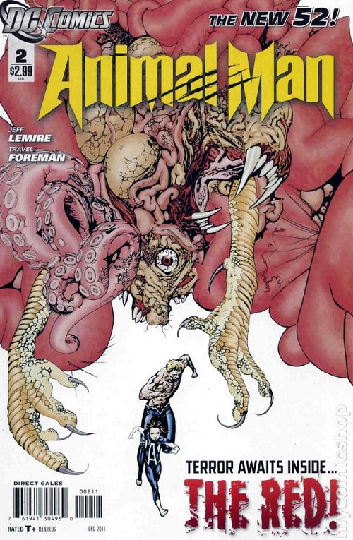 Couverture de Animal Man (2011) -2- Terror awaits inside… The Red !