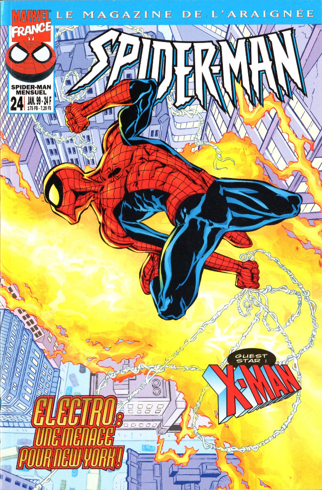 Couverture de Spider-Man (Marvel France 1re série - 1997) -24- Electro: une menace pour New York !