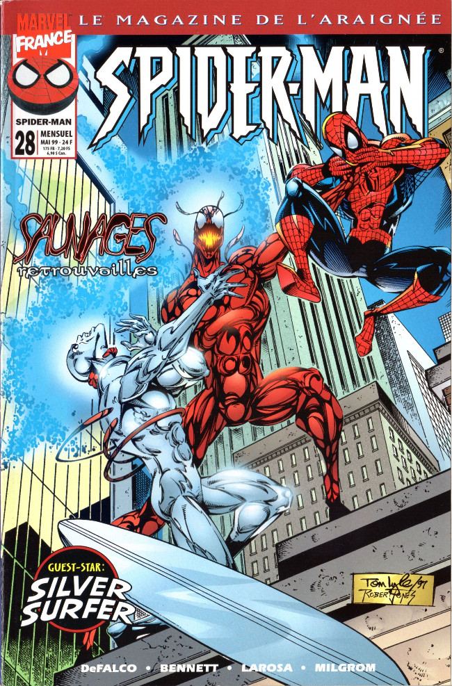 Couverture de Spider-Man (Marvel France 1re série - 1997) -28- Sauvages retrouvailles