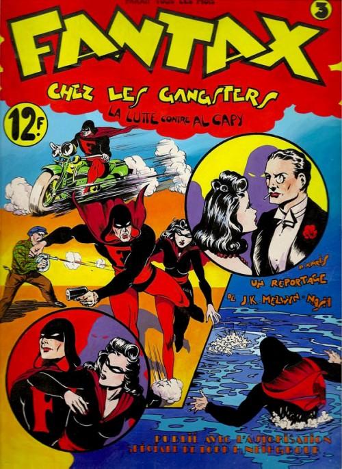 Couverture de Fantax (1re série) -3- Fantax chez les gangsters