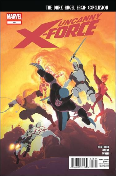 Couverture de Uncanny X-Force (2010) -18- Dark angel saga part 8 : red sky blue