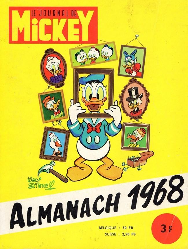almanach du journal de mickey  12  ann e 1968
