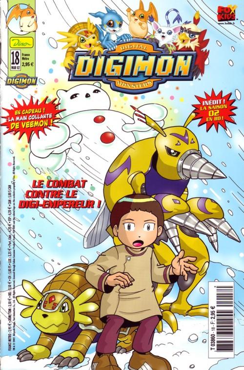 Couverture de Digimon (en comics) -18- Le combat contre le Digi-empereur !